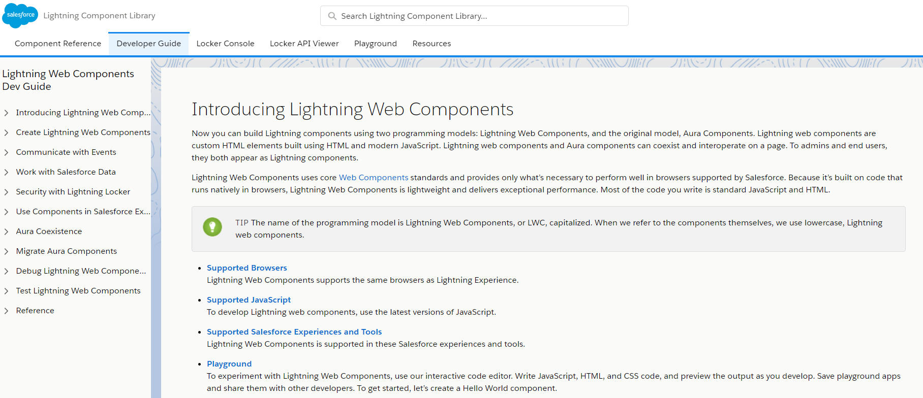 Lightning Web Components (LWC) in Salesforce documents hands-on experience.