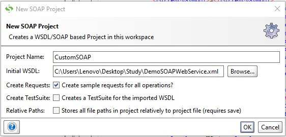 Create Project in SoapUI