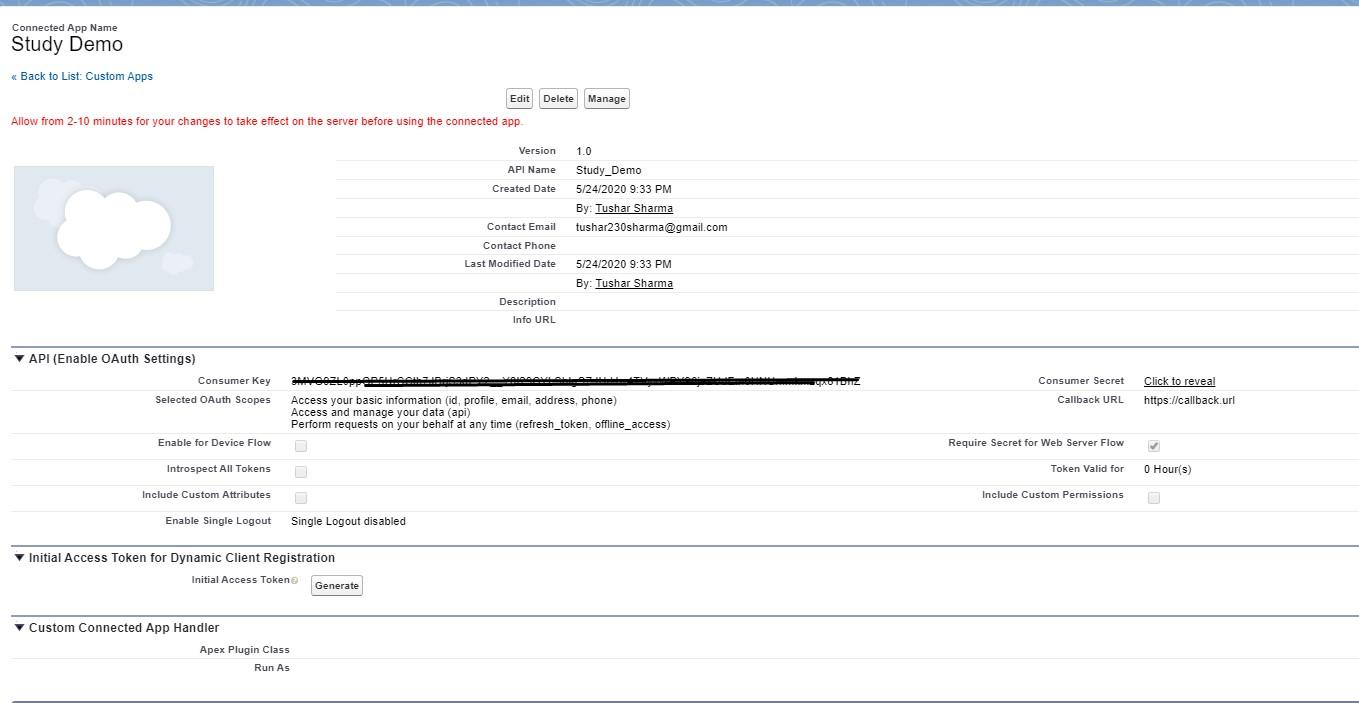 Get Client Credentials to  in Test Salesforce Rest API using Postman