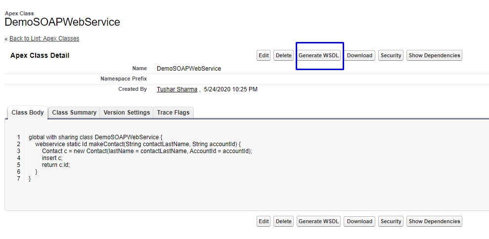 Generate Custom WSDL in Salesforce to use with SoapUI to Test Salesforce WebService