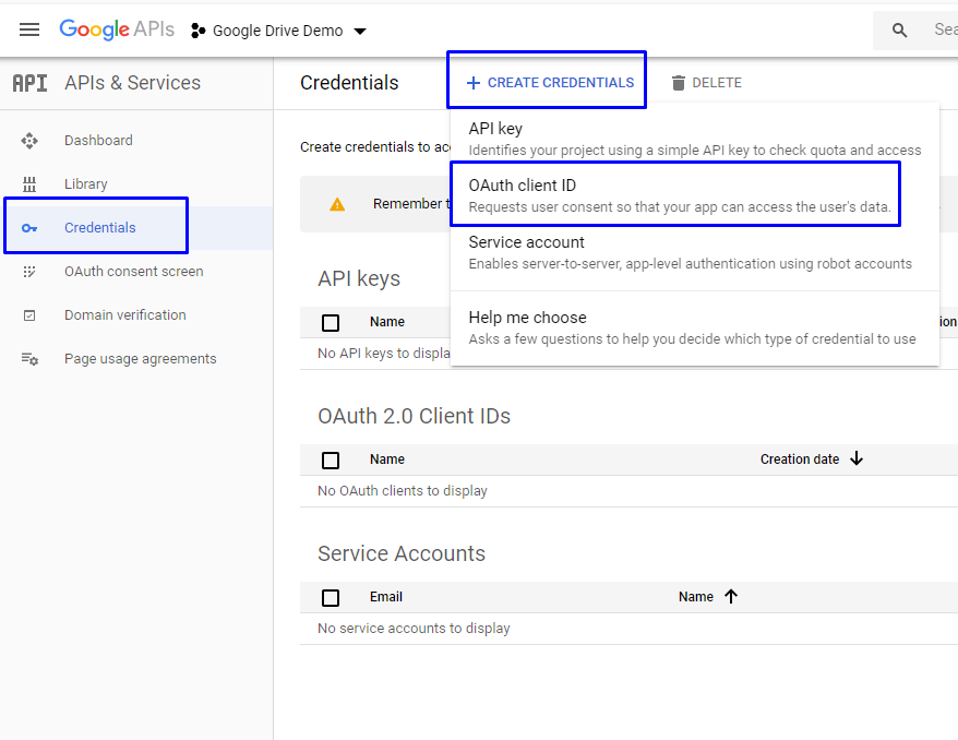 Google Drive Create connected app for Upload File to Google Drive Using Lightning Component
