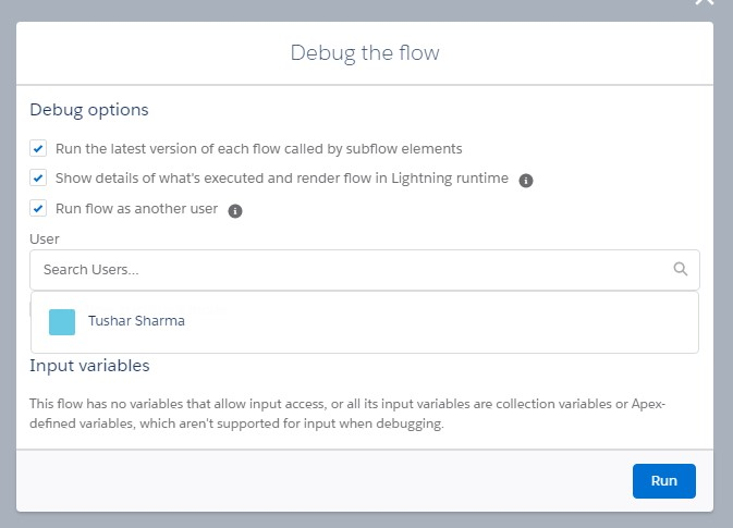 Debug Flow as any user, Winter 21 Salesforce Lightning Flow