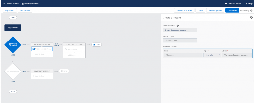 Platform Event in Lightning Web Components Create Process Builder to fire Platform Event