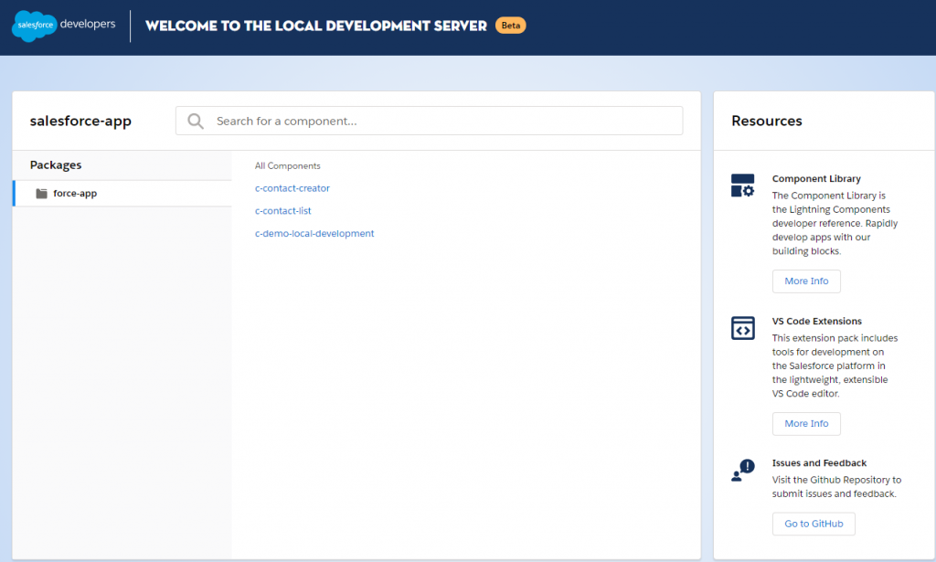 Local Development Server for Lightning Web Component
