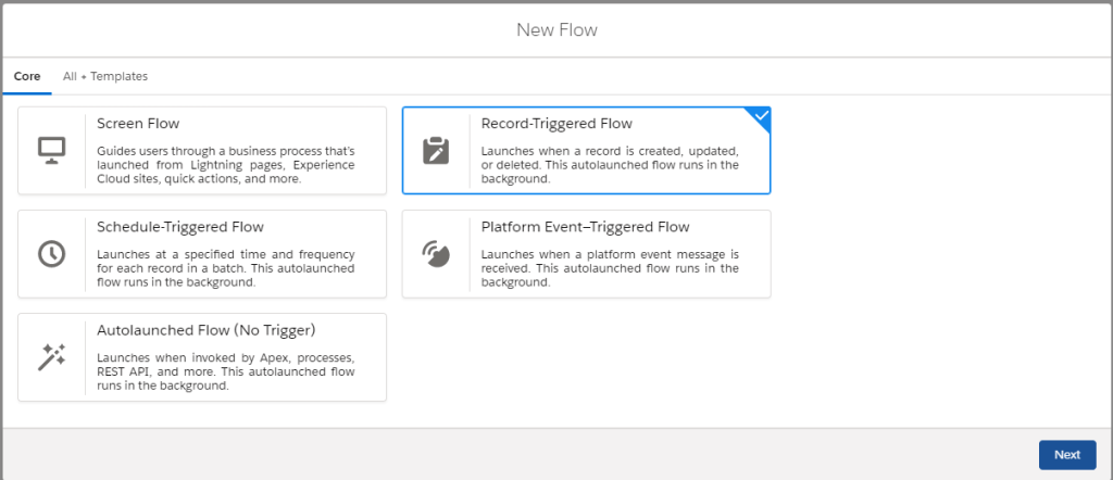 Create Record Triggered Flow