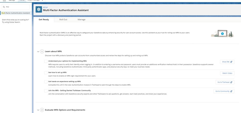 Salesforce Multi-Factor Authentication (MFA) Multi-Factor Authentication Assistant