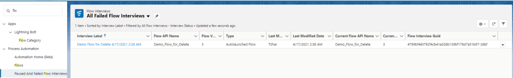 Find Failed Flows Faster using Failed Flow Interview in Summer 21 Salesforce Summer '21 Release Notes